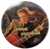Eddie Cochrane - 'Eddie Guitar' Button Badge